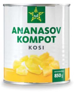 Ananasov kompot, Tuš, 850 g