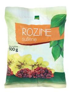 Rozine, Tuš, 500 g