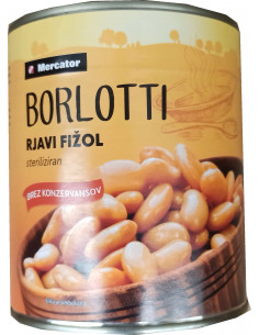 Fižol rjavi Borlotti,...